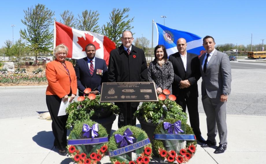 2017 MASTERCARD MEMORIAL CUP REMEMBRANCE GARDEN DEDICATION CEREMONY HELD
