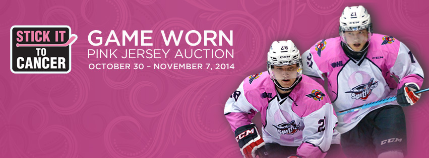 PINK JERSEY AUCTION RAISES NEARLY $6,000!